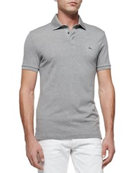 Ralph Lauren Black Label Mesh Knit Polo Shirt Dark Gray Dk Gray