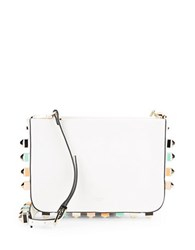 Luana Italy Wren Studded Camera Bag White