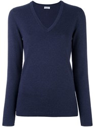 Brunello Cucinelli V Neck Jumper Blue