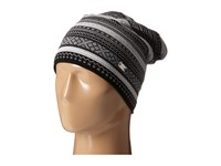 Dale Of Norway Vinje Hat Black Off White Light Charcoal Dark Charcoal Knit Hats Gray