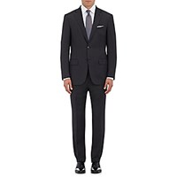 Ermenegildo Zegna Men's Milano Wool Two Button Suit Dark Grey