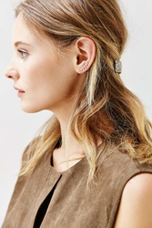 Urban Outfitters Tiny Triangle Ear Climber Earring Gold