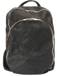 Guidi Double Zipped Backpack Black