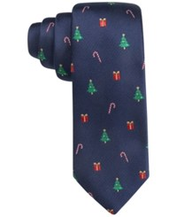 Club Room Men's Christmas Medley Tie Only At Macy's Navy