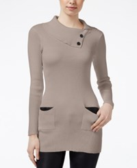 Amy Byer Bcx Juniors' Envelope Neck Sweater Taupe