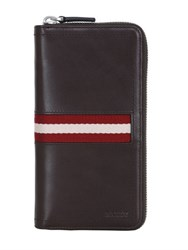 Bally Webbing Leather Zip Around Wallet