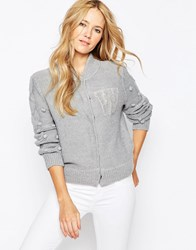 Wildfox Couture Wildfox Logo Cardigan Heather Grey