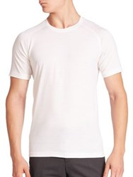 Z Zegna Solid Short Sleeve Tee White