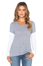 Monrow Varsity Double Layer Thermal Tee Gray