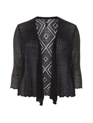 Evans Plus Size Black Diamond Back Shrug