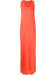 T By Alexander Wang Long Tank Dress Yellow And Orange