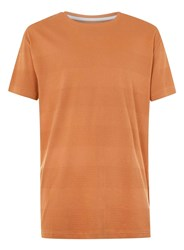 Topman Ltd Toffee Textured Stripe T Shirt