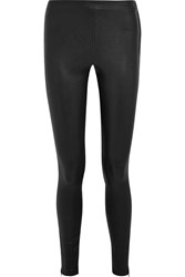 Elizabeth And James Xavier Stretch Leather Leggings Black