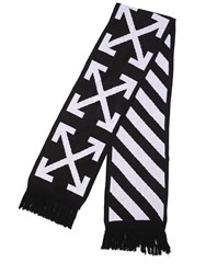 Off White Oversize Stripes And Arrows Scarf
