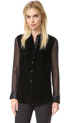 Rag And Bone Danni Velvet Blouse Black