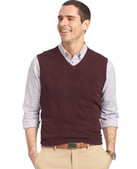 Van Heusen Big And Tall Solid Argyle Vest Crzn Htr