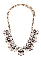 Forever 21 Faux Gemstone Statement Necklace Antic Gold Pink