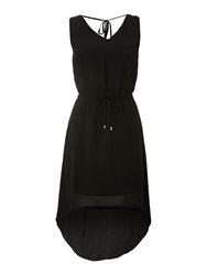 Vero Moda Dipped Hem Dress Black