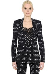 Givenchy Micro Printed Stretch Cady Jacket