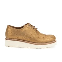 Grenson Women's Emily V Sparkle Brogues Old Gold