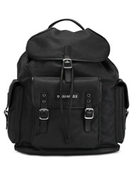 Dsquared2 Multiple Pocket Backpack Black