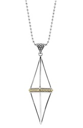 Lagos 'Ksl' Pyramid Pendant Necklace Silver Gold
