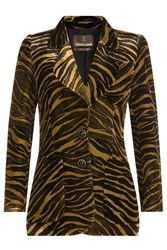 Roberto Cavalli Animal Print Velvet Blazer Animal Prints
