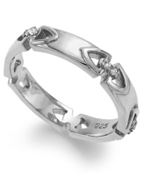 Proposition Love Sterling Silver Diamond Accent Wedding Band