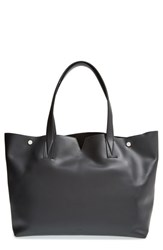 Vince 'Signature Collection' Leather Tote Black Black Black