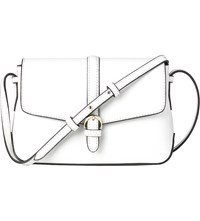 Lk Bennett Megan Mini Leather Cross Body Bag Whi White