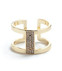 Maiocci Collection Crystal Exposed Ring Clear