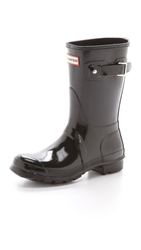 Hunter Original Short Gloss Boots Black