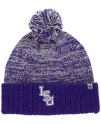 Top Of The World Lsu Tigers Dense Knit Hat Purple Gray