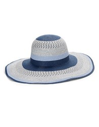 Collection 18 Striped Sun Hat Blue
