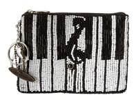Mary Frances Keyed Up Coin Purse Black White Coin Purse