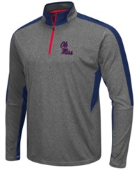Colosseum Men's Ole Miss Rebels Atlas Quarter Zip Pullover Charcoal Navy