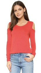 Feel The Piece Florentine Cold Shoulder Sweater Coral Reef