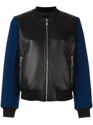 Drome Zipped Leather Jacket Black