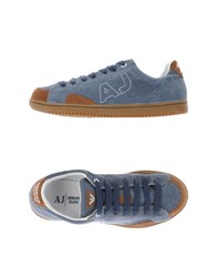 Armani Jeans Footwear Low Tops And Trainers Men Pastel Blue