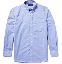 Polo Ralph Lauren Button Down Collar Gingham Cotton Shirt Blue