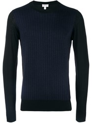 Brioni Grid Pattern Jumper Black