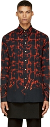 Katie Eary Black And Red Distorted Check Shirt
