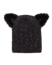 Eugenia Kim Knit Hat W Cat Ears Black