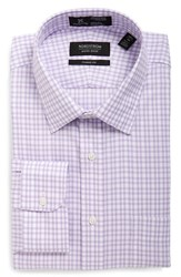 Nordstrom Men's Big And Tall Men's Shop Smartcare Tm Classic Fit Plaid Dress Shirt Lavender Spray