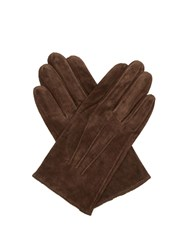 Dents Truro Suede Gloves Brown