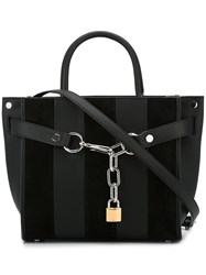 Alexander Wang 'Attica' Striped Tote Black