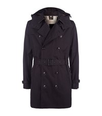 Burberry Brit Delsworth Cotton Trench Coat Male Black