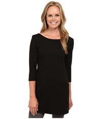 Fig Clothing Ver Tunic Black Women's Long Sleeve Pullover