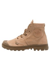 Palladium Pallabrouse Laceup Boots Dune Military Brown Light Brown