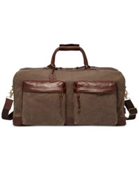 Fossil Men's Defender Waxed Canvas Duffel Bag Brown